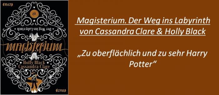 Magisterium - Der Weg ins Labyrinth - Rezension