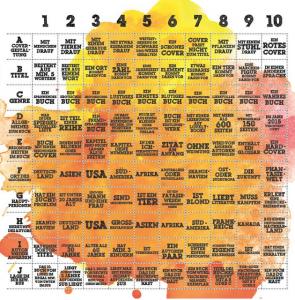 Jahres-Challenge Bingo