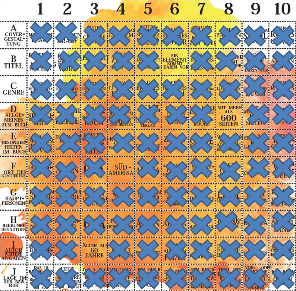Bingo mit Kreuze