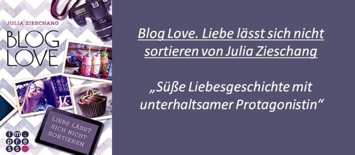 BlogLove. Liebe lässt sich nicht sortieren - Rezension