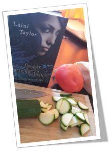 The Taste of Books - Gemüseecken - Gemüse schneiden